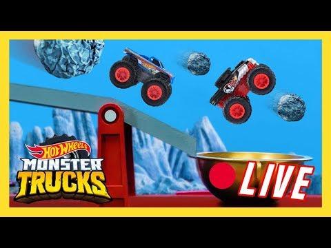 🔴 LIVE: MONSTER TRUCKS MAYHEM!   Monster Trucks Island   Hot Wheels