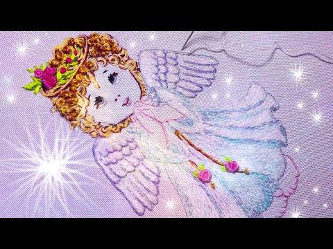 Beautiful Angel * long and short stitches * hand embroidery