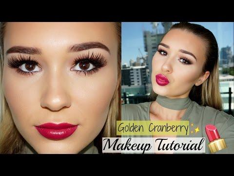 Golden Cranberry Makeup Tutorial | SHANI GRIMMOND