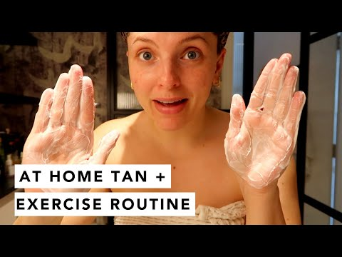 TAN / SKINCARE / MAKEUP / AT HOME EXERCISE ROUTINES  | Estée Lalonde