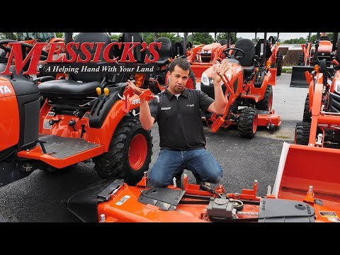 How to REMOVE AND INSTALL KUBOTA BX SERIES mower deck Picture