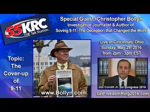 """Christopher Bollyn on 9-11 Coverup """"LetFreedomRing2016.com - The Radio Show"""""""