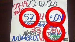 NÚMEROS PARA HOY 22 DE FEBRERO DEL AÑO 2020 - PARA ROMPER LOTERÍAS.