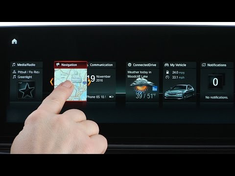 BMW How to customize the layout and live content of iDrive menu