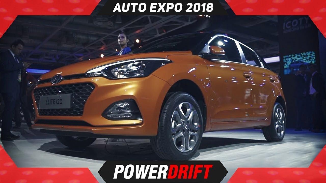 2018 ಹುಂಡೈ ಇಲೈಟ್ I20 ಎಟಿ ಆಟೋ ಎಕ್ಸ್ಪೋ : powerdrift
