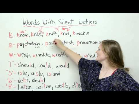 pronuntiation silent letters uses of silent letters in spelling 263