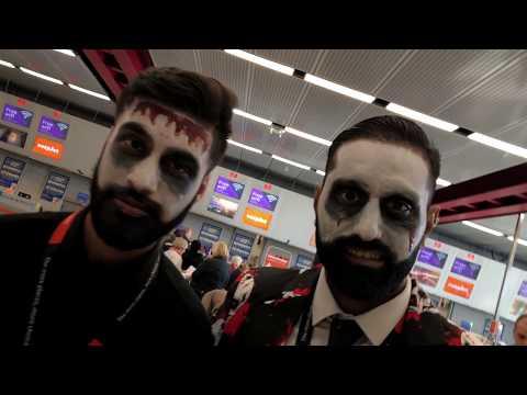 Halloween at London Luton Airport