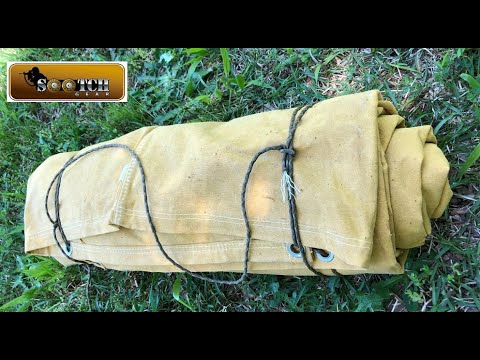 How to make a Cowboy Canvas & Wool Bedroll
