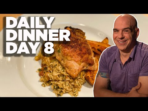 Cook Along with Michael Symon | One-Tray Chicken with Rice Pilaf | Daily Dinner Day 8