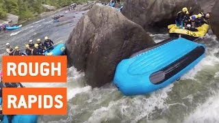White Water Rafters Fall in Same Spot | Death Trap