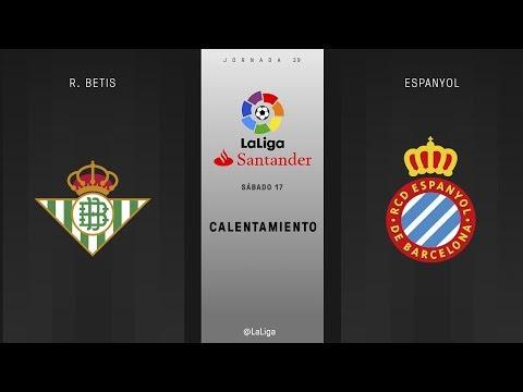 Calentamiento R. Betis vs Espanyol
