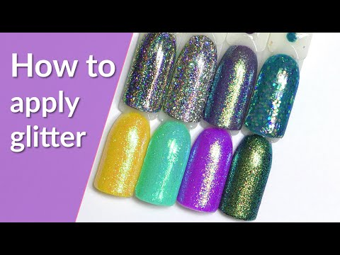 DIY Glitter Nails 💫 How to Apply Loose Glitter