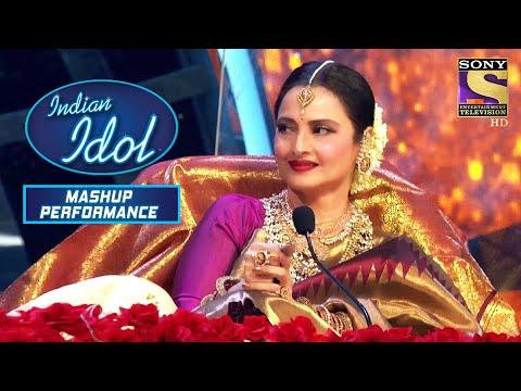 Rekha जी हुए बेहद खुश Sayali की इस Performance से   Indian Idol   Season 12 Mashup Performance
