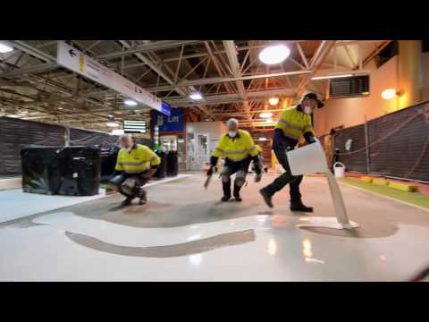 Installation of Flowfast Quartz Scatter - City of Perth Train Station