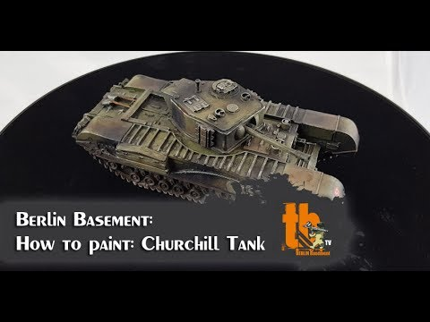 How to paint: British Churchill Tank (german language) [BB #3]