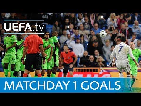 Ten great matchday one goals featuring Ronaldo,  Ibrahimović and Beckham
