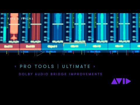 Pro Tools 2019 — Dolby Audio Bridge improvements