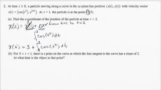 2015 AP Calculus BC 2a
