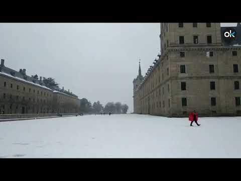 Así ha dejado 'Filomena' el Monasterio de El Escorial