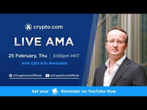 [Crypto.com] - Live Video AMA with Kris Marszalek, CEO of Crypto.com