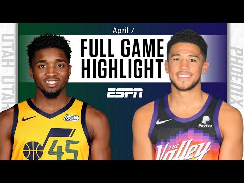 Utah Jazz at Phoenix Suns | Full Game Highlights