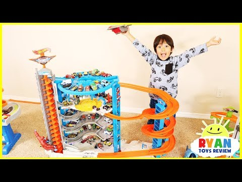 Biggest Hot Wheels Super Ultimate Garage Playset with Ryan's Toy Cars Collection