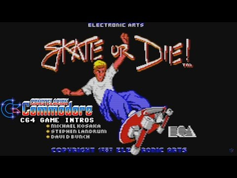 C64 Game Intro: Skate or Die (Electronic Arts,1987) (NTSC SID 6581)