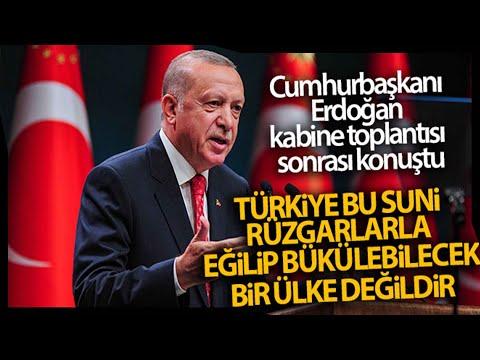 """Cumhurbaşkanı Erdoğan """"Türkiye Suni Rüzgarlarla Eğilip Bükülebilecek Bir Ülke Değildir"""""""