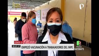 Covid-19: Minsa empezó vacunación a trabajadores del INPE de todo el país