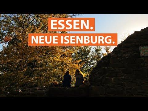 Die Burgruine Neue Isenburg am Baldeneysee in Essen