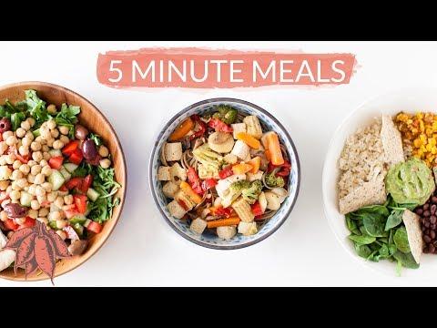 5 Minute Vegan Meals | Crazy Easy Vegan Recipes in Minutes