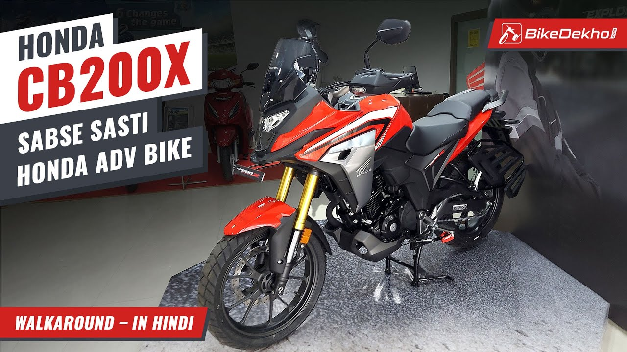 Honda CB200X Hindi Walkaround Review   Features, Styling, Price, Rivals & More