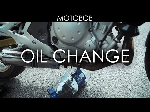 How To Change Motorcycle Oil & Oil Filter (Kawasaki ER-6n)