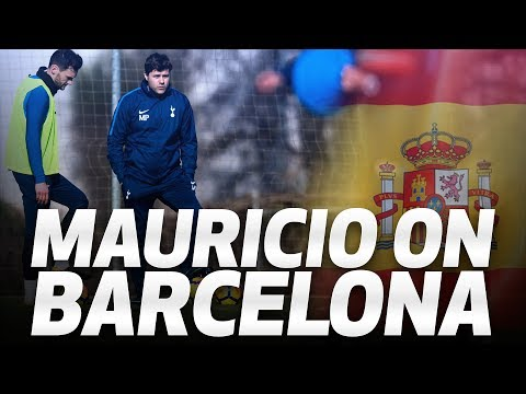 MAURICIO POCHETTINO ON BARCELONA TRIP