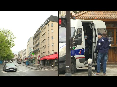 In Paris, Belleville district is quiet on the 48th day of lockdown   AFP photo