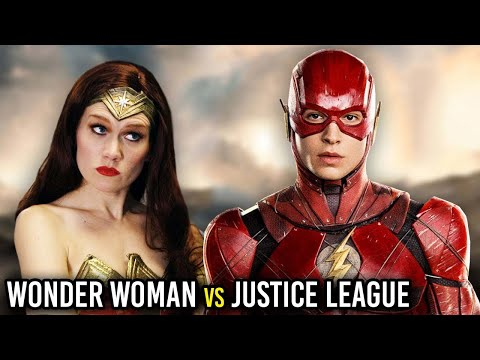 connectYoutube - WONDER WOMAN REACTS TO JUSTICE LEAGUE! (Parody)