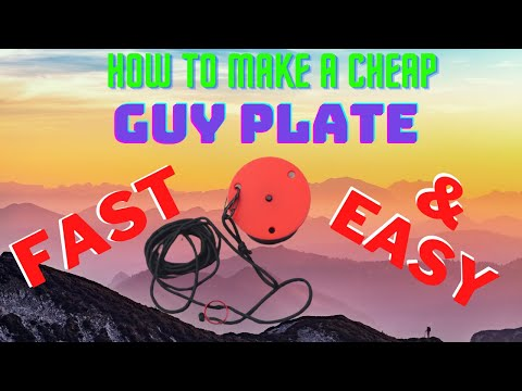 How to make a Guy Plate for your portable mast fast easy and cheap!