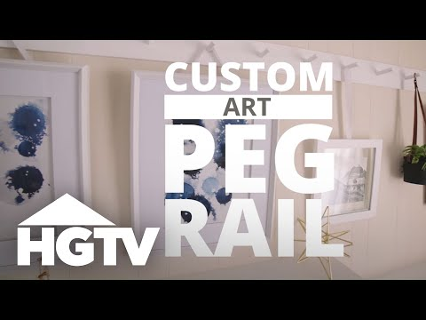 How to Make a Custom Art Peg Rail - HGTV