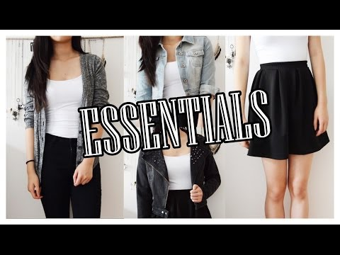 MY TOP 10 WARDROBE ESSENTIALS ♡ Basic clothing pieces