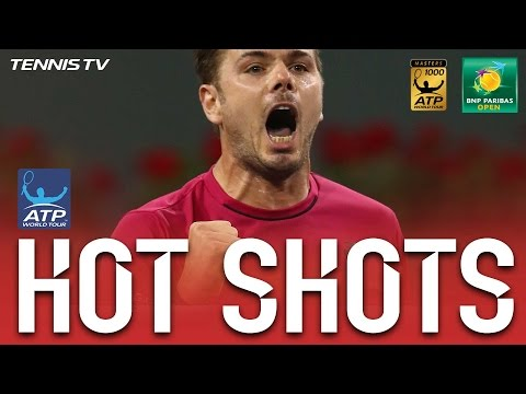 Hot Shot: Wawrinka Finishes Set In Style At Indian Wells 2017
