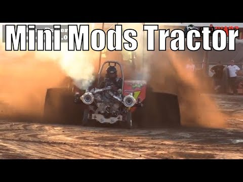 Mini Mods Tractor Class At WPA Pullers In Hartford Michigan 2018