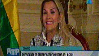 12 de diciembre, Priscilla Quiroga entrevista a la presidenta Jeanine Añez