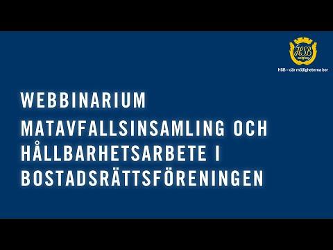 Matavfallsinsamling och hållbarhetsarbete i bostadsrättsföreningen (WEBBINAR)