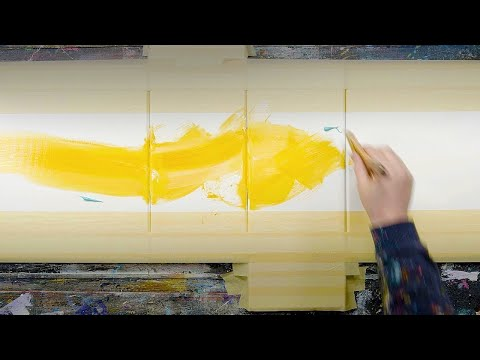 ABSTRACT PAINTING DEMO WITH MASKING TAPE | Quoad