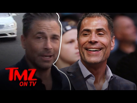 Rob Lowe's Doppelganger Works For The Lakers   TMZ TV