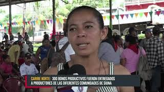 Entregan 300 bonos productivos a protagonistas de Siuna - Nicaragua