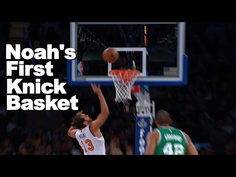 Joakim Noah's 1st Basket as a New York Knick!