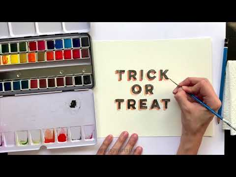 Create Mixed Media 3D Halloween Lettering
