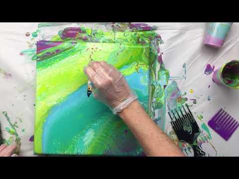 ( 555 ) Liquitex acrylic pour with a twist.