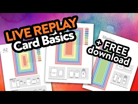 🔴 LIVE REPLAY! Card Measurements, Layers, Etc. + answering questions